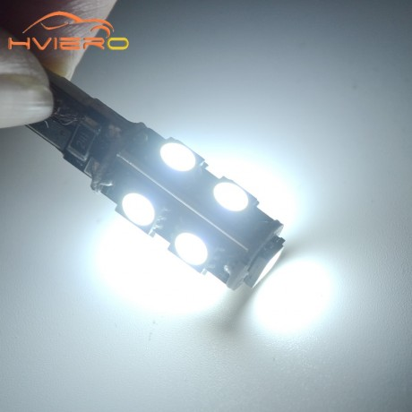 1Pcs White T10 9smd 5050 Canbus DC 12V Error Free 194 168 192 W5W Car LED Tail Light Interior Bulbs Wedge Parking Dashboard Lamp