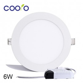 AC110/220V LED Panel Light 6W LED ceiling Light Round Ultra thin LED downlight