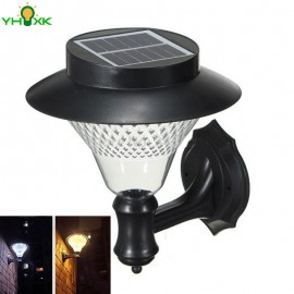 Solar Exterior Wall Light Weatherproof Wireless Exterior Security Outdoor Lighting For Patio Deck Yard Garden Home Driveway Path