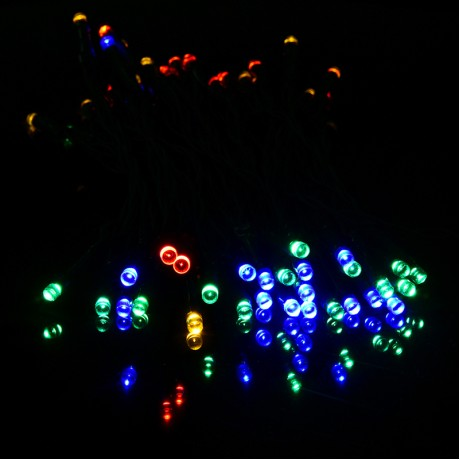12M 22M 31M 41M 51M Solar Power 200 LED String Fairy Light Outdoor For Christmas Party Garden 4 Colors