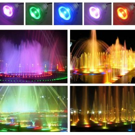 16 Colors 15W RGB 12V LED Underwater Fountain Light for Ponds Swimming Pool Aquarium Tank LED Light Lamp Waterproof with Memory