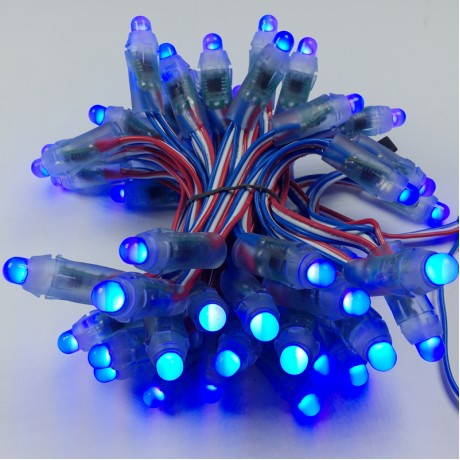 1000pcs DC5V 12mm WS2811 RGB LED Pixel module IP68 waterproof full color 50pcs a string perforator alphabet letter for sign