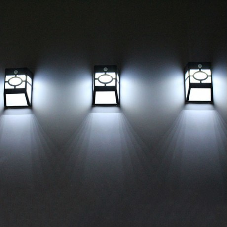 10 LED Solar Powered Wireless Motion Sensor Step White Light Stairway Path Landscape Garden Floor Wall Patio Lamp Modern Fixture