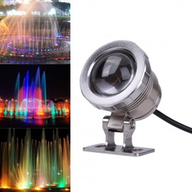 10W AC 12V RGB LED Underwater Lamp IP65 Waterproof Swimming Pool Pond Fish Tank Aquarium LED Light Lamp With Remote Controller