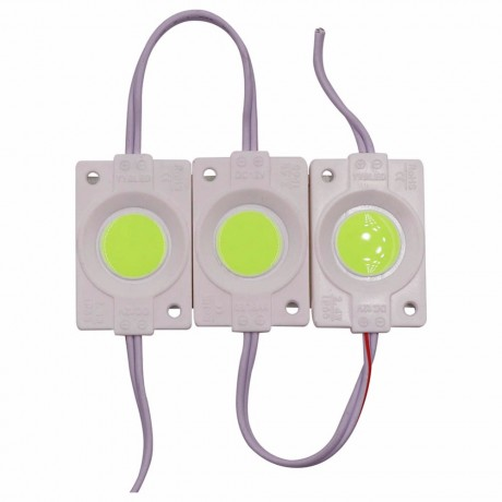 1Pc 2.4W Ultra Bright COB LED Module light Pure/Warm White Strip Light Lamp Bead Chip diy DC 12V lighting Waterproof
