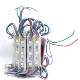 20pcs 5050 SMD 3LED Modules Waterproof IP65 DC 12V Light Green Red Blue Warm-White Sign Led Backlights For Channel Letters White
