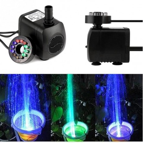 Mini Electric Submersible Water Pump Color RGB With 12 LED Fountain Garden Pond Fish Tank Fountain Pool Lights
