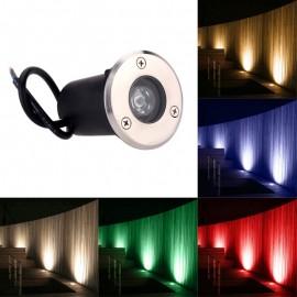 Waterproof Outdoor Buried Light 1W 3W LED Underground Lamp 12V 110V 220V 230V Garden Deck Spot Light