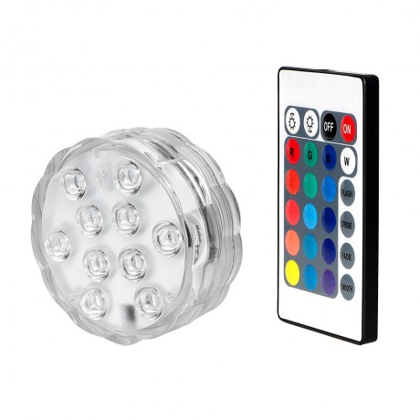 ITimo Wireless Remote Control LED Float Water Light Night Light Flower Shape Waterproof Swimming Pool Decoration Lamp RGB 10 LED