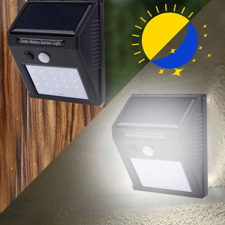 20 LED Solar Powered PIR Motion Sensor Wall Light Outdoor Waterproof Energy Saving Lamp Street Yard Path Garden Security Lights