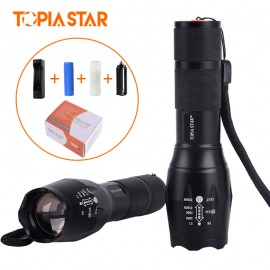 TOPIA STAR USB Rechargeable Led Flashlights Torch Portable Powerful Hunting Light Police Military Tactical Flashlight Lamp