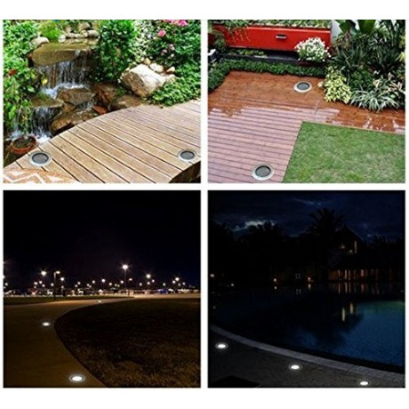 New IP68 5W Waterproof LED Underground Light Outdoor Ground Garden Path Floor Buried Yard Spot Landscape 85-265V DC12V