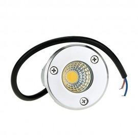 New IP68 5W Waterproof LED Underground Light Outdoor Ground Garden Path Floor Buried Yard Spot Landscape 85-265V DC12V