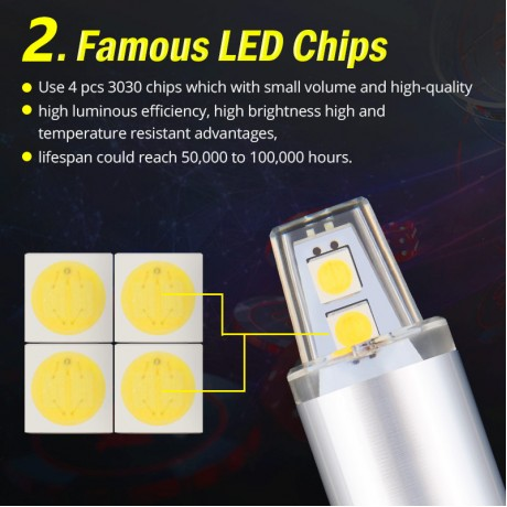 NAO 2x W5W LED Lamp T10 led Bulb Car Light 12V DRL 3030 Chips SMD 194 168 COB Clearance Light 6000K White Yellow 3000K Red New