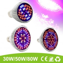 LumiParty 30W/50W/80W Full Spectrum E27 Flower Plant Grow LED Light Growing Lamp Light Bulb DIY Greenhouse Cultivation jk30