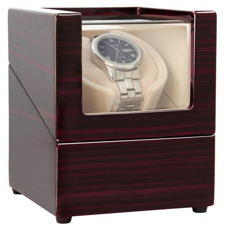 CHIYODA Single Watch Winder with Quiet Motor-12 Rotation Modes