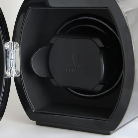 CHIYODA Dual Automatic Watch Winder with Double Quiet Mabuchi Motors-Piano Black
